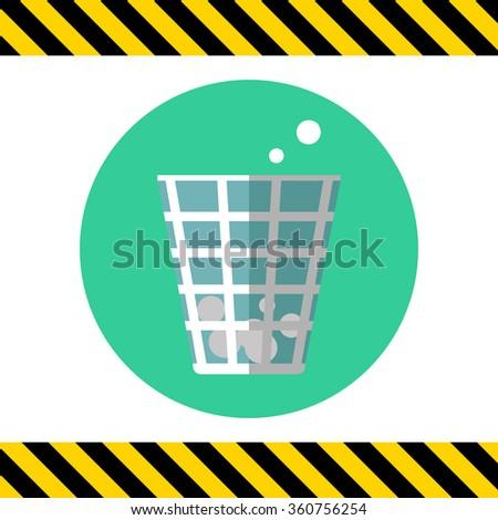 Wastepaper basket - stock vector