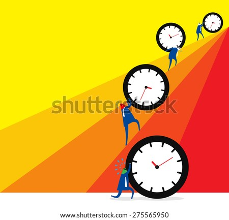 Wasting time in youth , suffering in old. - stock vector
