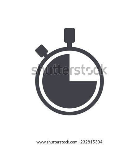 watch icon - stock vector