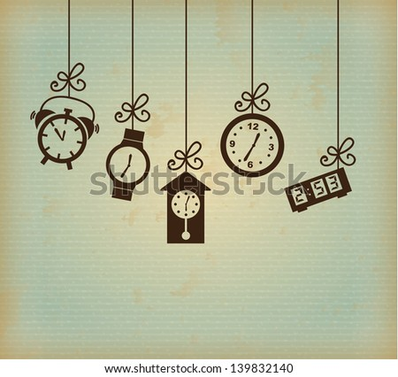 watch types iver grunge background vector illustration