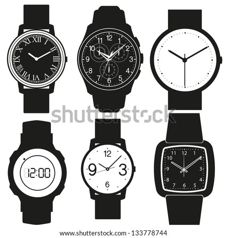watch vector - stock vector