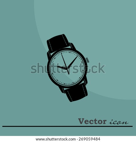 watches  icon - stock vector