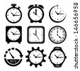 watches icons over white background vector illustration  - stock photo