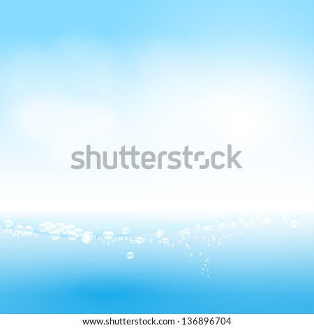 Water background - stock vector