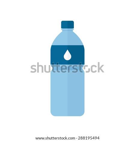 Water bottle icon, modern minimal flat design style, vector illustration - stock vector