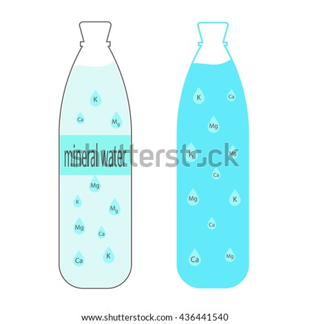 Water bottle, Vector illustration scale to any size. - stock vector