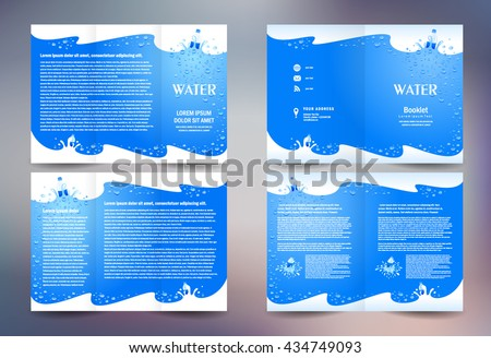 water brochure template water brochure stock images royalty free images vectors