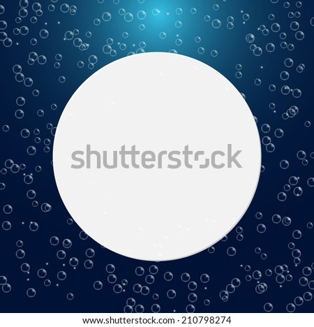 Water bubbles background, vector illustration  - stock vector