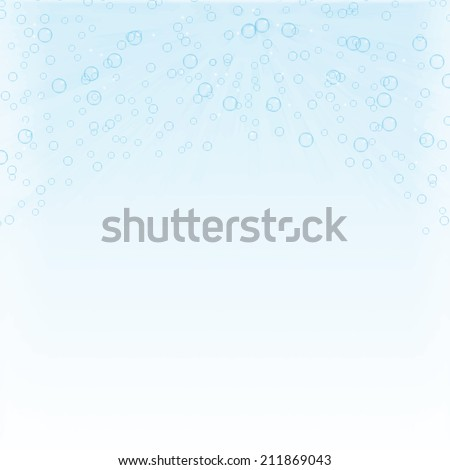 Water bubbles background, vector illustration