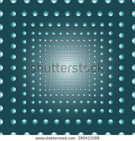 Water bubbles. Water drops on glass. Abstract  background geometrical ornament pattern with water drops.  Vector illustration. - stock vector