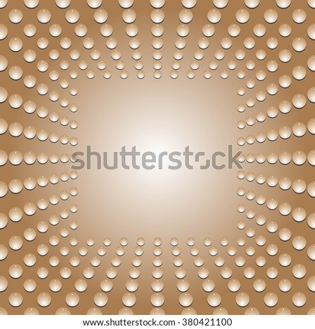 Water bubbles. Water drops on glass. Brown  Light Abstract  Seamless  background geometrical ornament pattern with water drops. For greeting card, presentation, card, flyer.  Vector illustration. - stock vector