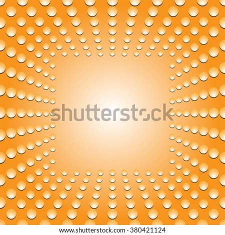 Water bubbles. Water drops on glass. Yellow Light Abstract  Seamless  background geometrical ornament pattern with water drops. For greeting card, presentation, card, flyer.  Vector illustration. - stock vector