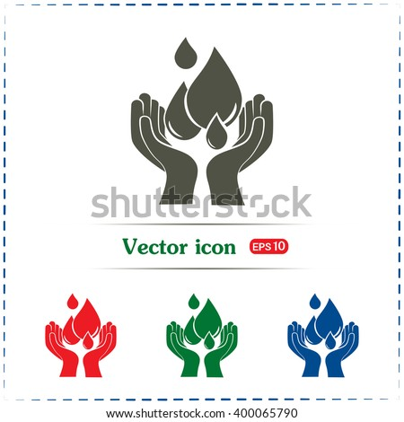 water care vector icons - stock vector
