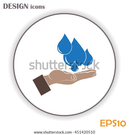 water care vector icons
