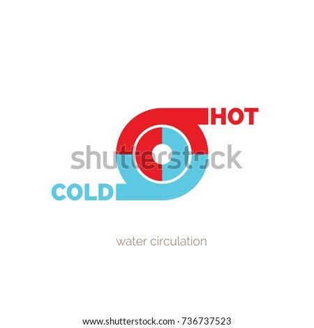 stock-vector-water-circulation-hot-and-c