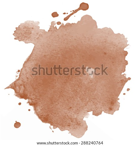 Water color brown background for your design - stock vector