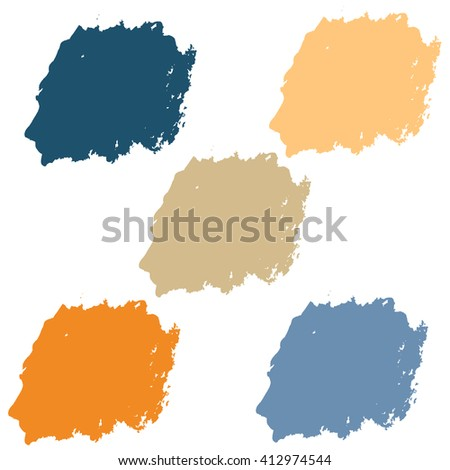 Water color 5 color palette set in summer orange theme for use in background or backdrop for use in many work