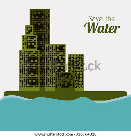 Water concept with environment icon design, vector illustration eps 10