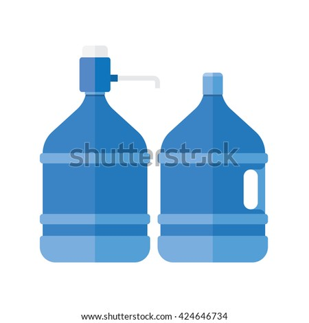 Water cooler. Refreshment and bottle office, plastic and liquid. Vector illustration - stock vector