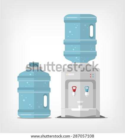 Water cooler. Vector flat illustration - stock vector
