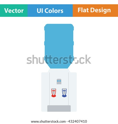 Water cooling machine. Flat design. Vector illustration. - stock vector
