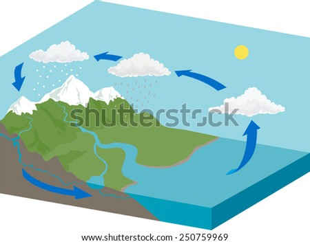 Water cycle diagram stock vector royalty free 250759969 shutterstock water cycle diagram ccuart Gallery