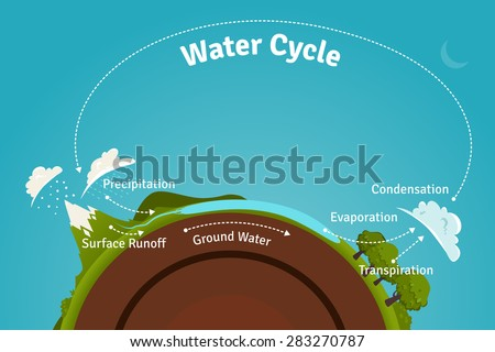 Water cycle diagram stock images royalty free images vectors water cycle illustration ccuart Image collections