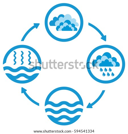 Water cycle stock images royalty free images vectors shutterstock water cycle infographics the water cycle vector diagram of precipitation collection evaporation and ccuart Images