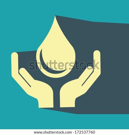 water design over blue  background vector illustration - stock vector