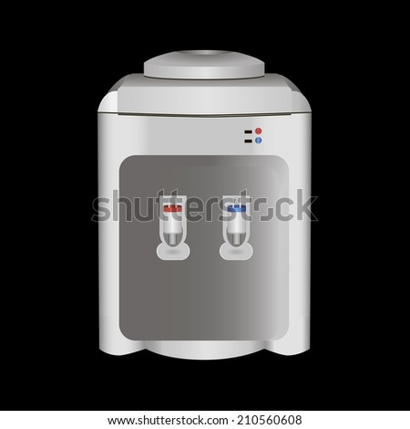 Water dispenser hot and cold. Vector illustration. - stock vector