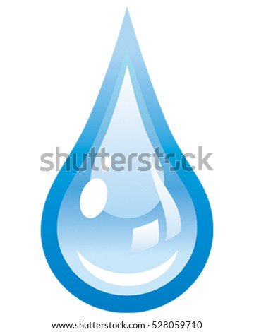 Water Drip Icon. Vector Illustration Design.