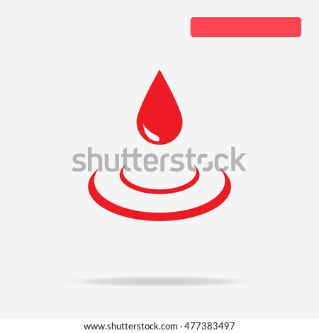 Water drop icon. Vector concept illustration for design.