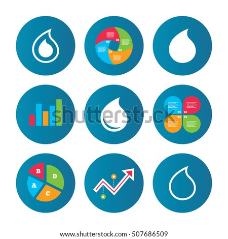 Water Drop Icons Tear Oil Symbols Stock Vector 507686509 Shutterstock