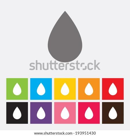 Water drop icons  - Vector - stock vector