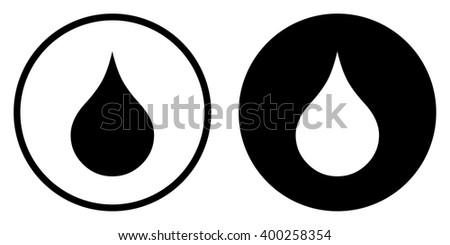 Water drop in circle . Vector illustration - stock vector