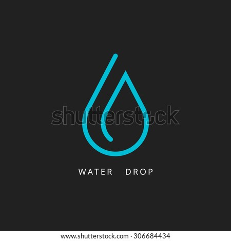 Water drop logo. Design element. Vector illustration - stock vector