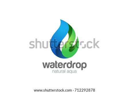 Water Drop Logo Design Vector Template Stock Vector 712293724 ...
