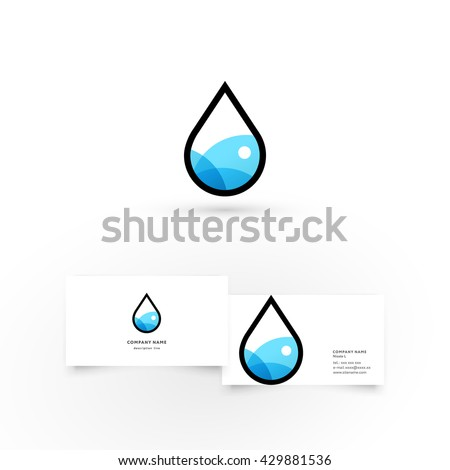 water dropmodern icon design logo element stock vector 429881536 shutterstock. Black Bedroom Furniture Sets. Home Design Ideas