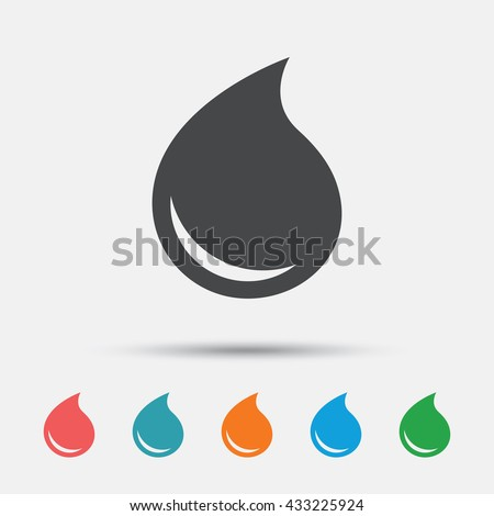 Water drop sign icon. Tear symbol. Graphic element on white background. Colour clean flat water drop icons. Vector - stock vector