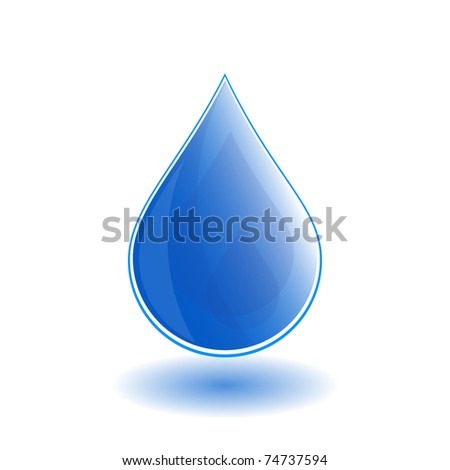 Water drop - vector - stock vector
