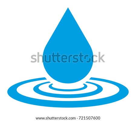 water drop vector icon stock vector 2018 721507600 shutterstock rh shutterstock com water droplet vector free download water droplet vector free
