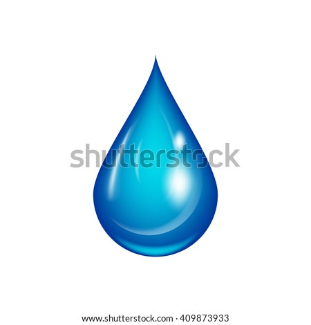 water drop vector illustration isolated on stock vector 2018 rh shutterstock com free vector water drop splash vector water drops in adobe illustrator