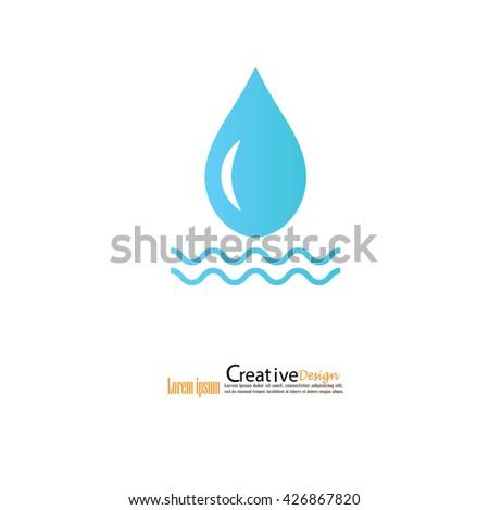 water drop.water icon.vector illustration. - stock vector