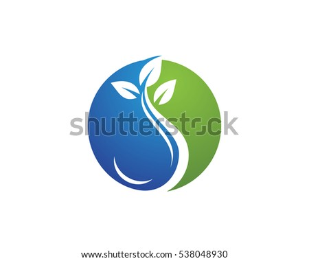Water Droplet Leaf Element Icons Business Stock Vector 540141694 ...