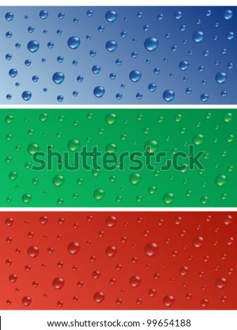 Water drops - stock vector
