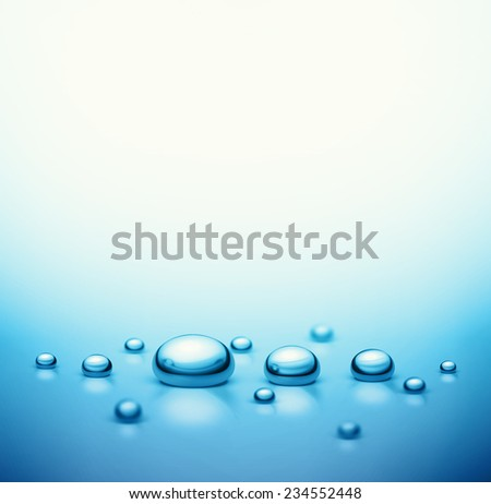 Water drops background, eps 10 - stock vector
