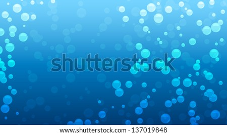 water drops on blue background vector eps - stock vector
