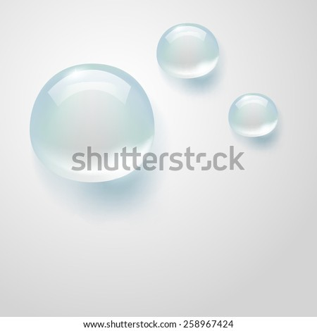 water drops on gray - stock vector