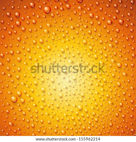 Water drops on surface as background. Vector illustration. - stock vector