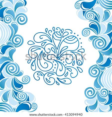 Water drops pattern vector illustration - stock vector